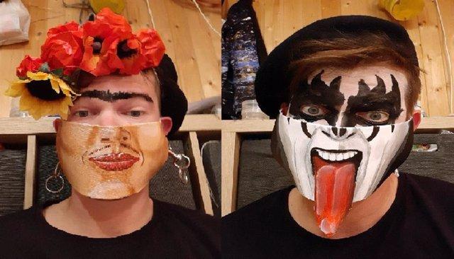 Un artista austriaco crea mascarillas de lo más originales
