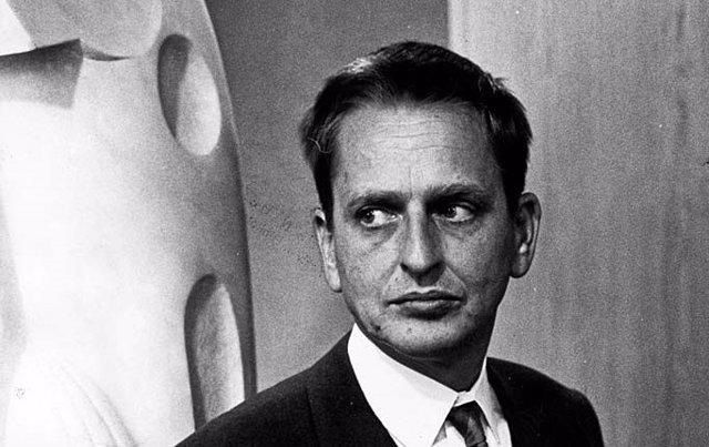 El primer ministro de Suecia, Olof Palme