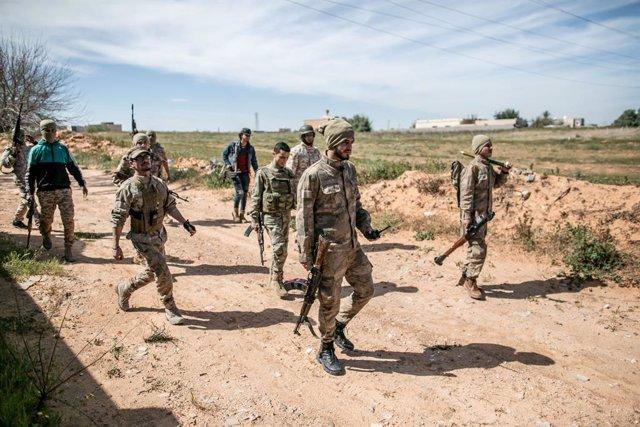 Forces lleials al govern d'unitat de Líbia, amb seu a la capital, Trípoli