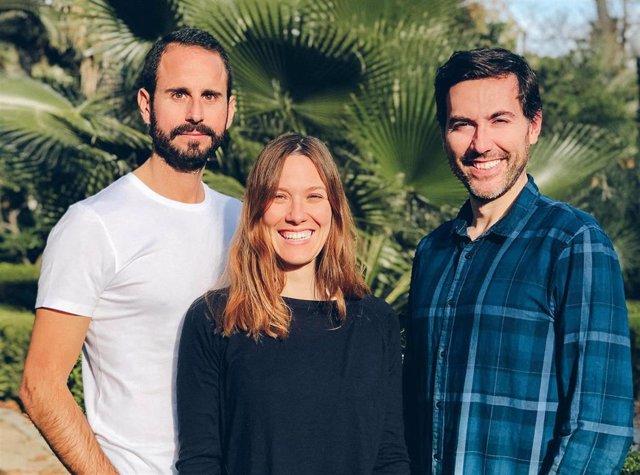 La ceo de la fintech Declarando, Marta Zaragozá, junto a los otros cofundadores