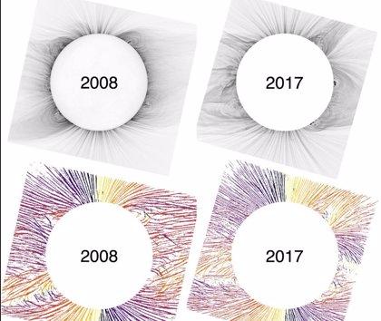 Eclipses revelan detalles del campo magnético de la corona solar