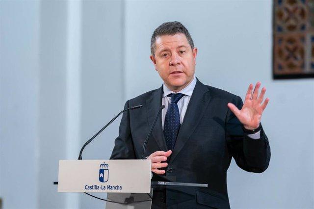 El presidente de Castilla-La Mancha, Emiliano García-Page, en Molina de Aragón
