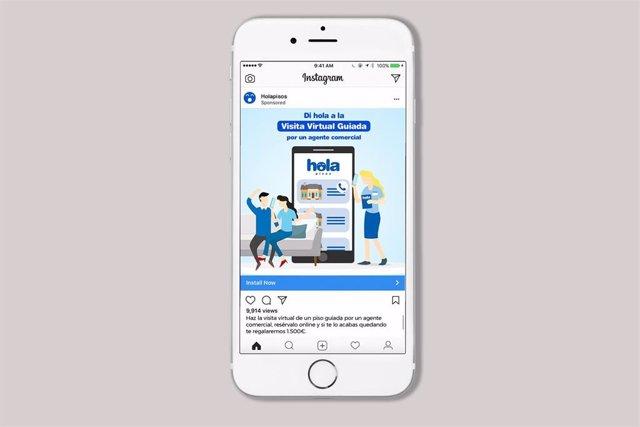 El portal inmobiliario Holapisos (Anticipa Real Estate) lanza visitas virtuales guiadas por agentes comerciales para móvil, ordenador y tableta