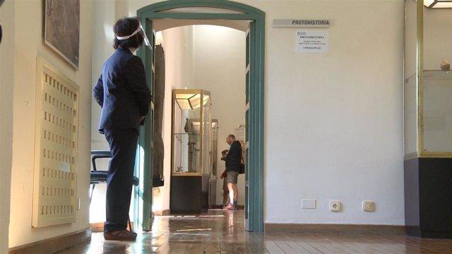 Una de las salas del Museo Arqueológico de Badajoz que ha reabierto sus puertas