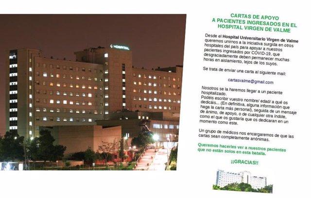 Cartas de ánimo recibidas en el hospital de Valme de Sevilla.
