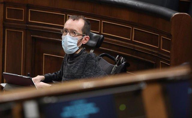 El portaveu d'Unides Podem, Pablo Echenique, al Congrés