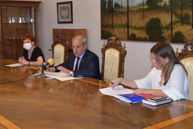 Rueda de prensa del presidente de la Diputación de Lugo.