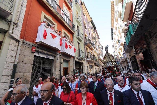 Procesión de San Fermín 2018. Sanfermines.