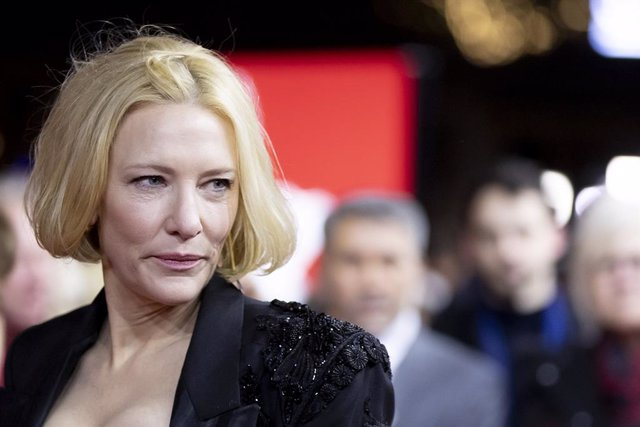 """26 February 2020, Berlin: Australian actress Cate Blanchett attends the screening of the movie """"Stateless"""" during the 70th Berlinale International Film Festival, held until 01 March. Photo: Christoph Soeder/dpa"""