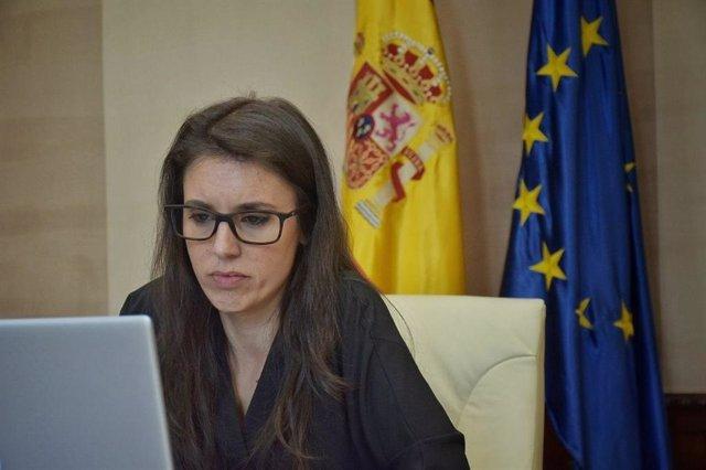 La ministra de Igualdad, Irene Monero, se reúne con diversas asociaciones de lucha contra la explotación sexual y la trata con fines de explotación sexual