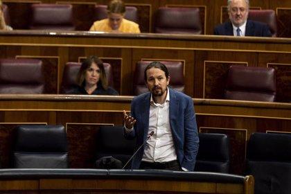 """Iglesias acusa a """"la derecha de berrinche y cacerola"""" de intentar influir en algunos poderes del Estado"""
