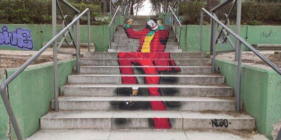 3. El 'Joker' también tiene su escalera en Salamanca