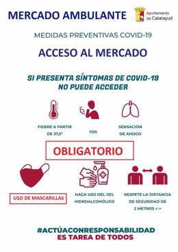 Cartel preventivo mercadillo Calatayud