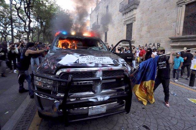 Protestas por la muerte de Giovanni López en  México