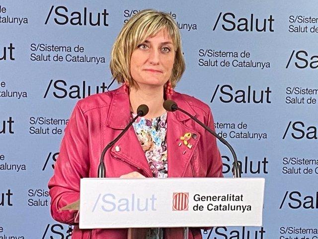 La consellera de Salud de la Generalitat, Alba Vergés