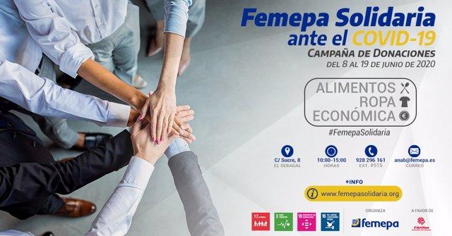 Femepa lanza una campaña solidaria a favor de las personas más castigadas por la pandemia