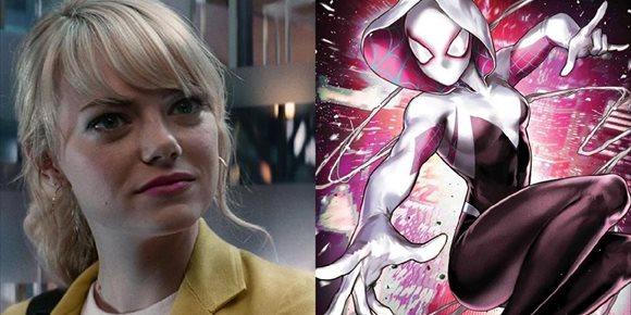 1. Emma Stone se convierte en Spider-Gwen en este genial fan-art