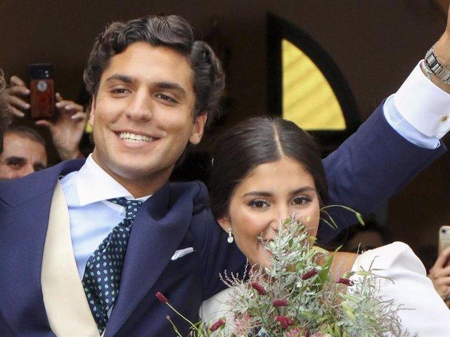Tomás Páramo y María García de Jaime el día de su boda