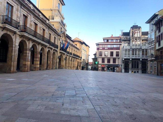 La plaza del Ayuntamiento de Oviedo