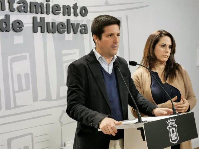 Guillermo García de Longoria, portavoz del Grupo Municipal de Ciudadanos (Cs) en el Ayuntamiento de Huelva, en una imagen de archivo.