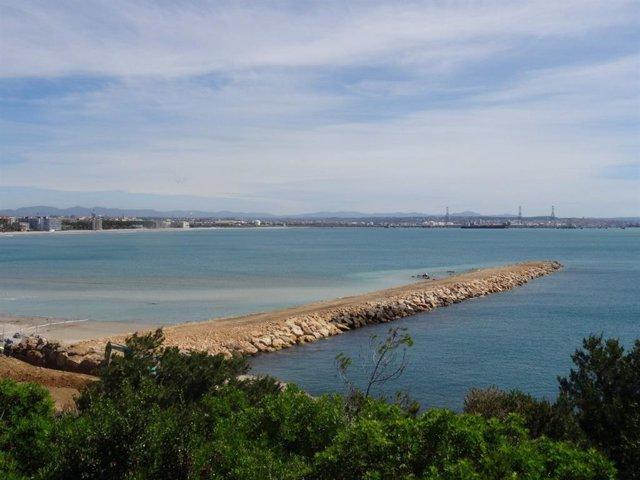Espigón del Racó en Tarragona