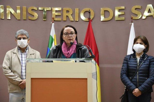 La ministra de Salud de Bolivia, Eydi Roca