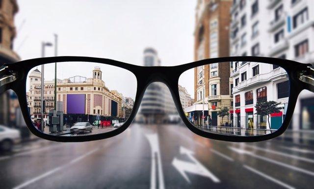 Gafas, problemas de visión, miopía.