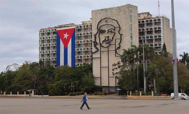 Plaza de la Revolución de La Habana durante la pandemia de coronavirus.