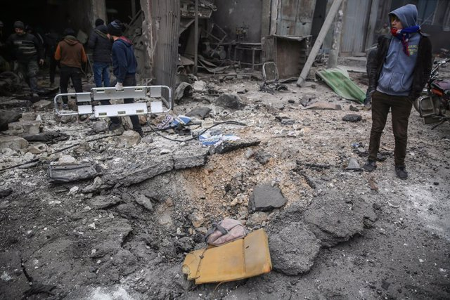 Escenari d'un bombardeig de l'Exèrcit de Síria a la província d'Idlib