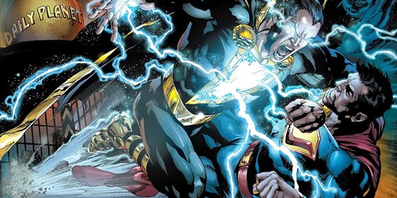 1. Superman (Henry Cavill) vs Black Adam (Dwayne Johnson) en este brutal fan art del Universo DC