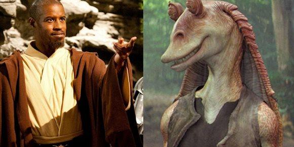 1. Star Wars convierte a Jar Jar Binks en un maestro Jedi