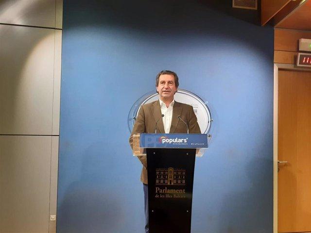 El presidente del PP en Baleares y portavoz del Grupo Popular en el Parlament, Biel Company.
