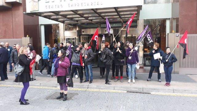 Manifestantes de la CGT en una imagen de archivo