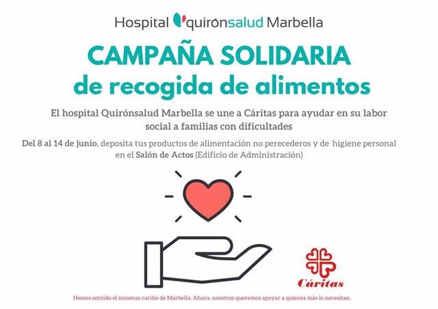 Málaga.- Coronavirus.- Quirónsalud Marbella organiza una campaña solidaria de re