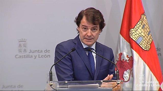 El presidente de la Junta de Castilla y León, Alfonso Fernández Mañueco.