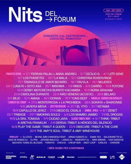 El Fòrum de Barcelona acollirà 70 nits de música en directe aquest estiu
