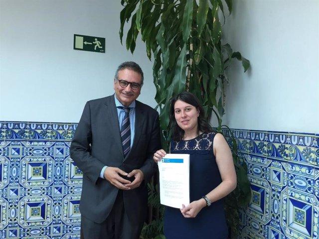 La presidenta del Observatorio para la Libertad Religiosa, María García, presenta el informe, en una imagen de archivo.