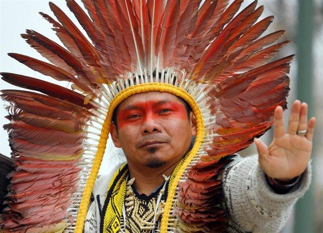 Activista indígena durante la COP25 (Imagen de archivo)