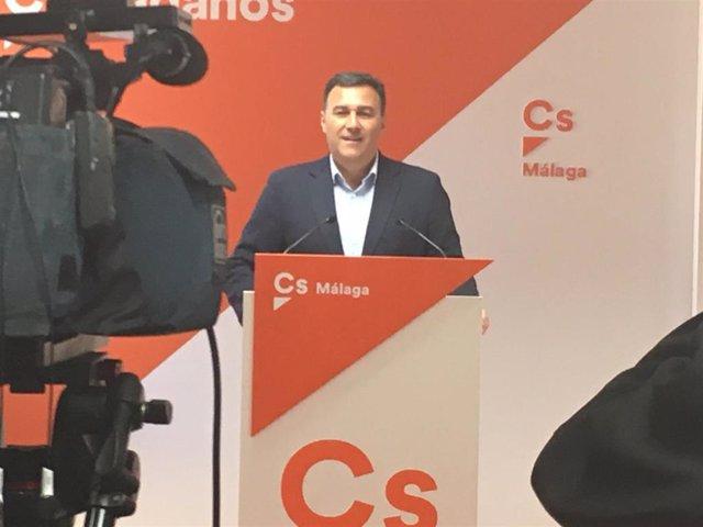 El parlamentario y portavoz de Ciudadanos en la provincia de Málaga, Carlos Hernández White, en una imagen de archivo