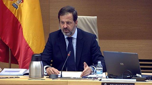 El presidente de la Alianza de la Sanidad Privada Española (ASPE), Carlos Rus, durante su comparecencia en la Comisión para la Reconstrucción Social y Económica en el Congreso de los Diputados