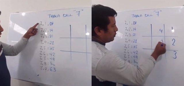 Un ingeniero enseña un truco para aprender la tabla del 7 y se hace viral en TikTok