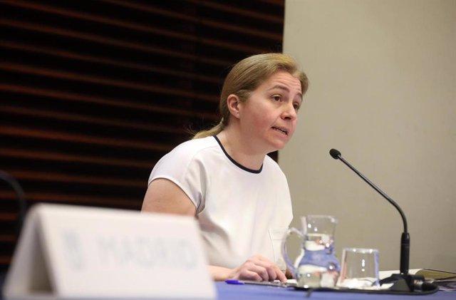 Inmaculada Sanz, portavoz municipal del Ayuntamiento de Madrid.