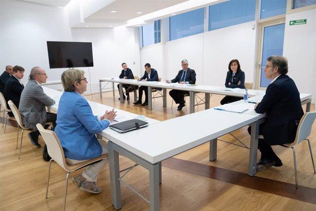 O Titular Do Goberno Galego Na Xuntanza Cos Representantes Dos Sectores Da Industria Marítimo-Pesqueira Afectados Polo Proxecto De Ley De Cambio Climático Do Estado