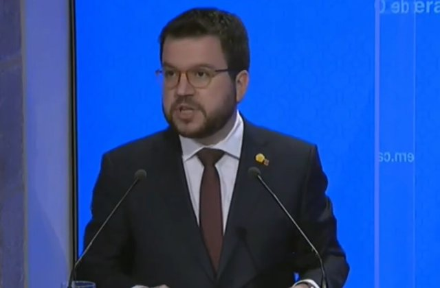 El vicepresident del Govern, Pere Aragonès, en roda de premsa després del Consell Executiu.