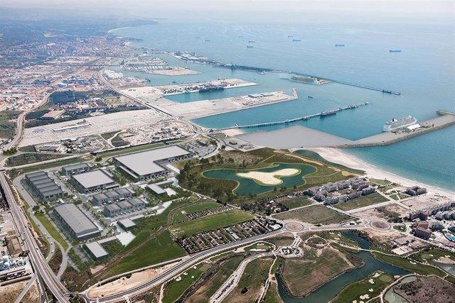Vista aérea de la ZAL del Puerto de Tarragona