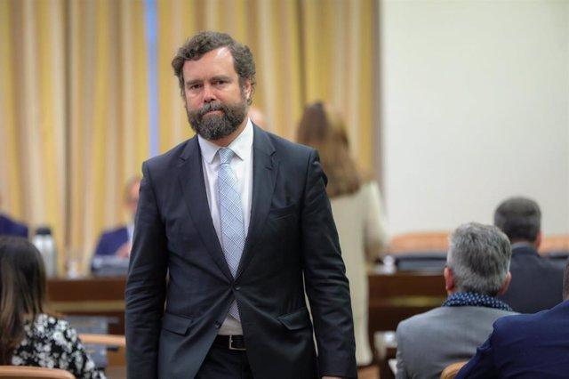 El portavoz del Grupo Vox en el Congreso de los Diputados, Iván Espinosa de los Monteros, en una imagen de archivo