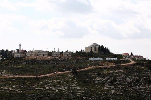 El asentamiento israelí de Shilo, ubicado cerca de la ciudad cisjordana de Nablús