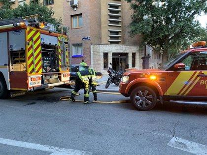 Muere en Arganzuela un hombre de 58 años por inhalación de humo a raíz de un incendio en su casa