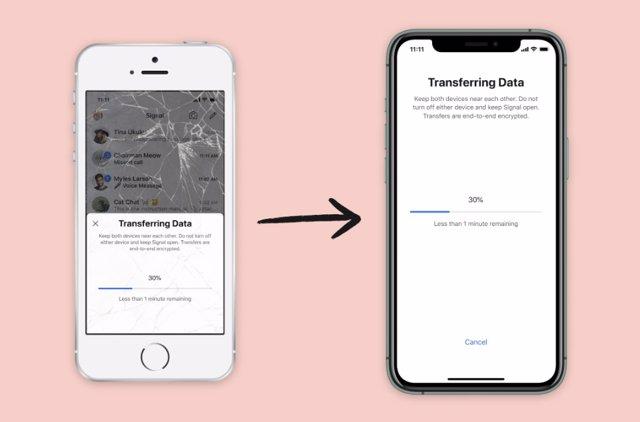 Signal permite migrar datos entre dispositivos iOS con un proceso encriptado