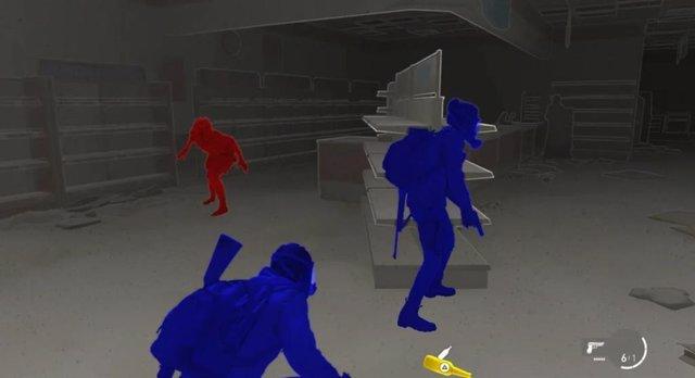 Modo de accesibilidad de The Last of Us Parte II.